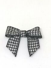 Gorgeous 3cm Dogtooth Black and White Bows - packs of 10 or 20