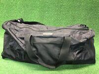 "Coronado Sport Black Full Zipper 40"" X 15"" Gym Weekend Travel Duffel Bag Ripstop"