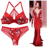 Sexy Ladies Bra Set Lace Lingerie Push Up Bra And Panties Sets Knicker Underwire