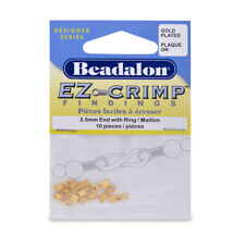 Beadalon® EZ-Crimp™ Findings Ends with Ring 10mm Gold Color 10 pieces