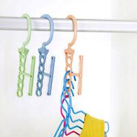1PC 5 Hole Practical Clothes Hanger Rack Space Saver Organizer Clothing HookQP