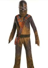 CHEWBACCA Star Wars Costume Disney jumpsuit mask goggles SMALL 4-6