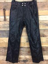Vintage Brooks Leather Sportswear Leather Pants 32 VTG USA Detroit MI Biker