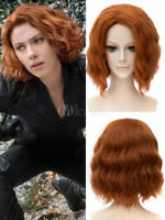 Captain America Black Widow Cosplay Wig Marvel's The Avengers Halloween Cos Hair