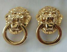 Lion Head Clip Earrings Kenneth Lane Kjl Gold Tone