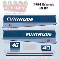 1984 Evinrude 40 HP Outboard Reproduction 6 Piece Marine Vinyl Decals 40RCR