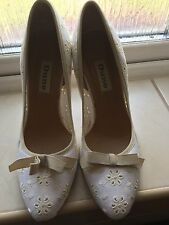 Dune UK Size 3 Broderie Anglaise Shoes