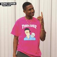 Thrasher Tee Gonz Cover Pink Skateboard Magazine Premium T-Shirt