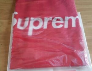 New and unopened SS15 Supreme x NY New York Yankees Hand Towel red