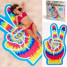 🌈Big Mouth Inc Giant Sized Peace Sign Beach Blanket ( 77 x 42.5 in) 🌈