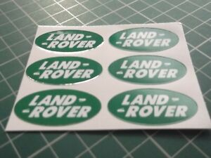 LAND ROVER Stickers  SMALL OVAL GREEN