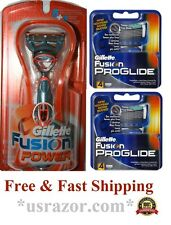 ~9 Gillette Fusion 5 Performance Proglide Blades Power Razor Refill Fit Flexball