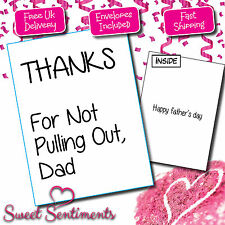 Personalised Rude Funny Fathers Dad Day Card PULLING OUT
