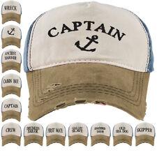 Baseball Cap Captain Cottton Adjustable Strap Boys Mens Summer Hat Navy Sea