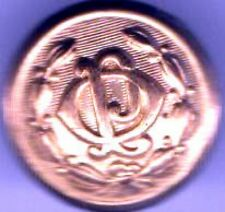 old OPL Button 5/8 inch Initials goldplated