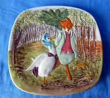 """BEATRIX POTTER Collector Plate BESWICK: Fox & Goose,7 3/4"""",1979 1ST EDITION"""