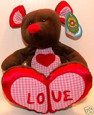 Valentine's Day Hart Mouse Plush! Stuffed Green! New!
