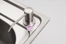 Kitchen Sink Soap Dispenser Brushed Stainless Steel Head Aluminum Bottle D42-A