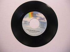 Elton John & Eric Clapton Runaway Train/True Love 45 RPM MCA Records