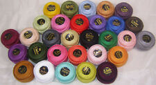 30 Anchor Crochet Cotton Thread Balls. 30 Different Colours, 85 Meters Each