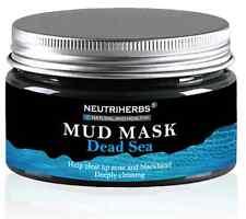 Neutriherbs Dead Sea Mud Facial Body Hair Mask Cleansing Acne Blackheads Natural