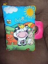 Book Bellino Cloth Farm Animals Colorful Textures Stuffed Plush Cow Rattle