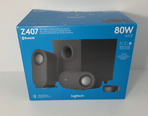 Logitech - Z407 2.1 Bluetooth Computer Speaker System with Wireless Control