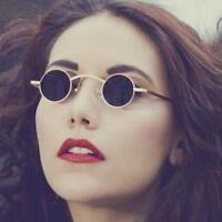 Vintage Sunglasses Small Round Lens Shade Metal Frame Women Men Lennon Retro Rim