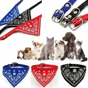 Dog Bandana Neckerchief Collar Leather L M S Pet Dog Puppy Cat Kitten Tie Scarf