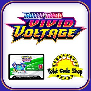 VIVID VOLTAGE - SWORD AND SHIELD CODES ~ Pokemon Online Booster Code TCGO FAST
