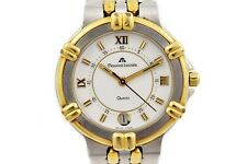 Vintage Maurice Lacroix 14357 Stainless Steel Two Tone Quartz Midsize Watch 1452
