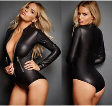 Abito Tuta Dominatrice Canottiera Simil Latex Mistress Aderente Clubwear Body