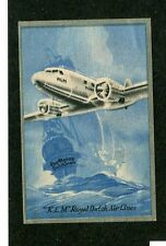 Vintage Airline Luggage Label KLM AIRLINES Flying Dutchman ship small