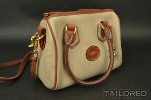 DOONEY & BOURKE Beige Pebble Grain Leather Womens Shoulder Bag Purse Handbag