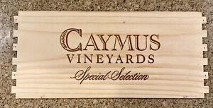 Caymus Cabernet Winery Napa Wood Wine Panel