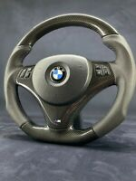 BMW E90 E92 E82 E87 Carbon Steering Wheel Flat Bottom M Performance Power Sport