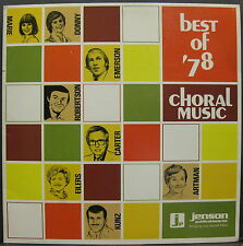DONNY & MARIE OSMOND Best Of '78 Choral Music PROMO Only LP Jensen Publications