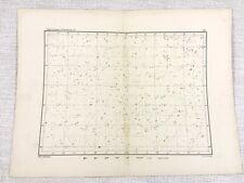 1893 Antique Star Map Chart Aquarius Pegasus Aquila Constellations Astronomy