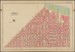1908 SOUTH BROOKLYN NEW YORK COBBLE HILL COURT ST TO EAST RIVER ATLAS MAP