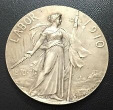 FRENCH / HONNEUR ET PATRIE / Signed by GEORGES LEMAIRE / 1910 / Bronze Medal M81