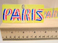 "#4734 PARIS France Travel Air vintage look 1x4"" Luggage Label Decal Sticker"