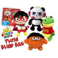 "Ryan's World Ryan Mystery Plush Blind Moe Monster Gus Gator Panda Red Titan 12"""