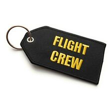 Flight Crew / Do Not Remove From Aircraft Luggage Tag | Medium | Black / Yellow