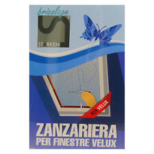 ZANZARIERA PER FINESTRA VELUX 120X140 RIDUCIBILE LUCERNAIO ZANZARIERE CON ZIP
