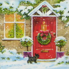 4x Paper Napkins for Decoupage Decopatch Christmas Home View