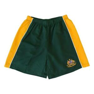 Men's Board Sports Shorts Australian Day Souvenir Beach Swim Gym - Green & Gold