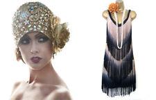 Vero Moda Tie Dye 1920s Flapper Charleston Fringe Tassle Gatsby Dress Size S