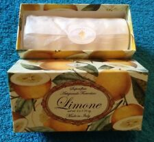 Saponificio Artigianale Fiorentino Lemon Soap Set 6 X 1.76oz.italy New Boxed