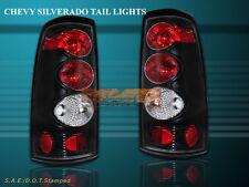 99-02 CHEVY SILVERADO TAIL LIGHTS JDM Black LAMP G2 00