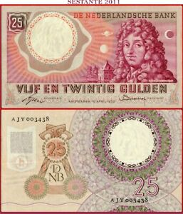 (com) NETHERLANDS 25 GULDEN 10.4. 1955  P 87  VF++  ; free shipping from 75 euro